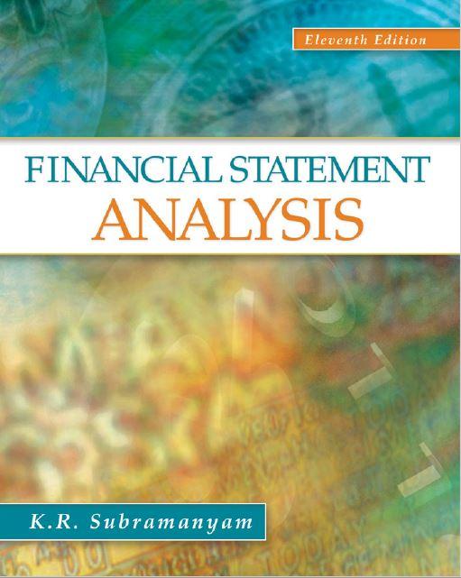 Financial Statement Analysis.